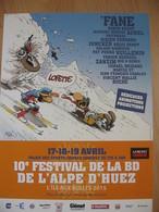 Affiche FANE Festival BD L'Alpe D'Huez 2015 (Joe Bar Team) - Posters