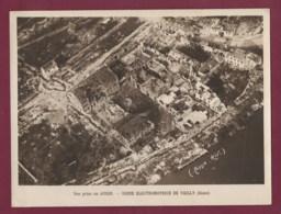 190420A - PHOTO MILITARIA GUERRE 1914 18 - 02 VAILLY Vue Prise En Avion Usine électromotrice - Ruines Bombardement - France