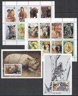 D455 1993 ANTIGUA & BARBUDA FAUNA ANIMALS CELEBRATE THE WILD !!! 2BL+2KB MNH - Postzegels