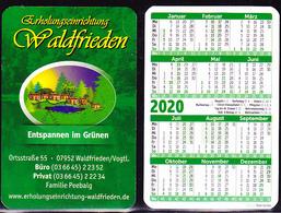"""Deutschland Germany Allemagne - Taschenkalender """"Erholungseinrichtung Waltfrieden"""" In 07952 Waldfrieden/Vogtl. 2020 - Calendarios"""