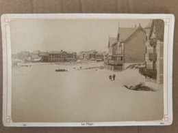 Photo Ancienne Sur Carton De La Plage De BERCK (62) - Orte