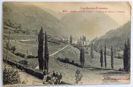 C. P. A. : 64 Village Et Bassin D' URDOS, Animé, Timbre En 1920 - Autres Communes