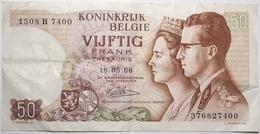 Belgique - 50 Francs - 1966 - PICK 139a.4 - TTB+ - [ 2] 1831-... : Reino De Bélgica