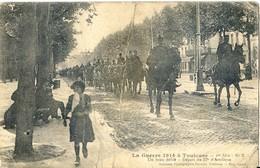 La Guerre 1914 à Toulouse - Un Beau Défilé - Départ Du 57e D'Artillerie - Militaire , Soldat  (très Animée) - Guerre 1914-18