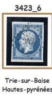 France : Petit Chiffre  N° 3423 Trie Sur Baise  (  Hautes Pyrénées  ) Indice 6 - 1849-1876: Klassik