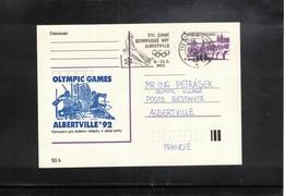 Czechoslovakia  1992 Olympic Games Albertville - Ice Hockey Interesting Cover - Hiver 1992: Albertville