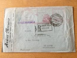 K2 Italien 1932 R-Brief Mit Afs Von Mailand Nach Le Havre Zweiseitig Offen - 1900-44 Victor Emmanuel III