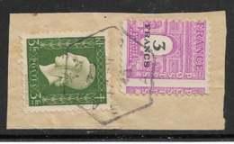 Maury 711d (Avec 694) - 3 F Lilas - Variété Piquage à Cheval - Sur Fragment - O - 1944-45 Arc De Triomphe