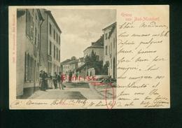 AK Bad Mondorf, Mühlenweg, Edit. N. Schumacher, Gel. 1900 Nach Dour, Belgique - Mondorf-les-Bains