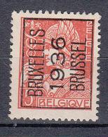 BELGIË - PREO - 1936 - Nr 302A (Mercurius) - BRUXELLES 1936 BRUSSEL - (*) - Typo Precancels 1932-36 (Ceres And Mercurius)