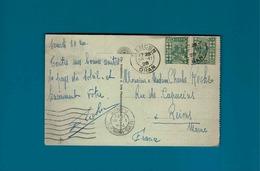 2 TP 20 RF, Cachet Tlemcen Oran Pour Reims Principal Sur Cp Oran Le Port - Algeria (1924-1962)