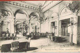 NANCY - 54- Restaurant Stanislas, J.WALTER-Grande Salle Des Fêtes-scans Recto Verso-voyagée 1906 - Nancy