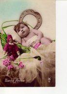 CPA  FANTAISIE -  ENFANTS - 36 -  BONNE ANNEE - - Portraits
