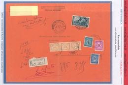"""St.Post.623 - REPUBBLICA 1957 - TASSATA - Manoscritto Racc.8 Porti Affran.L.65 """"Italia Al Lavoro"""" - Leggere Descrizione - Segnatasse"""