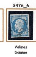 France : Petit Chiffre  N° 3476 :   Valines (  Somme ) Indice 6 - Marcophilie (Timbres Détachés)