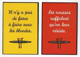 Anti Alcool Sécurité Routière 3 CP Pub Canadiennes Neuves. Bières Brunes Blondes Rousses. Prends Pas Le Volant. 2 Images - Other