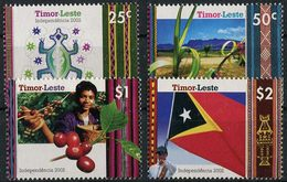 Timor-Lestie 1950. Mundifil #371/74 MNH/Luxe. Independence. Flag. (Ts16) - East Timor