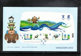 Canada 2009 Olympic Games Vancouver FDC - Winter 2010: Vancouver