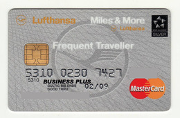 Deutsche Kreditbank GERMANY AVIO Lufthansa Mastercard Business Expired 2009 - Cartes De Crédit (expiration Min. 10 Ans)