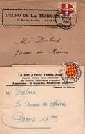 Blasons Savoie 1950 & Angoumois 1955 Sur Deux Bandes De Journaux - Postmark Collection (Covers)
