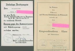 Album 225 Fotos WK 2, Augsburg-Pfersee/ Frankreich / Rumänien Zilistea/ Urkunden IX. (J) Fliegerkorps Gefechtsstand Usw. - 1939-45