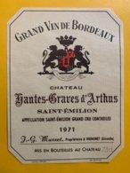 13570 -  Château Hautes Graves D'Arthus 1971  Saint Emilion - Bordeaux