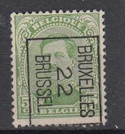 """BELGIË - PREO - Nr 60-II B - BRUXELLES """"22"""" BRUSSEL - (*) - Préoblitérés"""