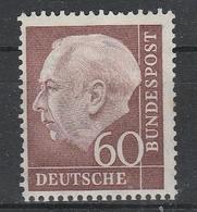 GERMANIA BUND  1954  Xx    MI 190  -   Postfrisch    - NB  Dentellatura  Un Po Scarso ! Vedi  Foto  ! - Ungebraucht