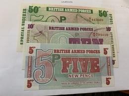 United Kingdom Set Of 3 Unc. Banknotes 1972 - 1952-… : Elizabeth II