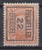 """BELGIË - PREO - Nr 55-II B - BRUXELLES """"22"""" BRUSSEL - (*) - Préoblitérés"""