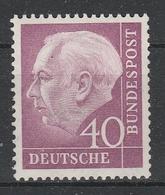 GERMANIA BUND  1954  Xx    MI 188  -   Postfrisch    -  Vedi  Foto  ! - Ungebraucht