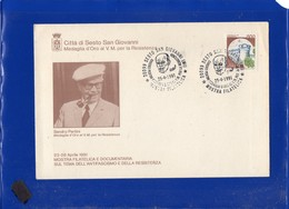 ##(DAN204)-1991- Sesto San Giovanni,Medaglia D'Oro Al V.M.,annullo Speciale Su Busta Commemorativa-tematica Resistenza - 6. 1946-.. Repubblica