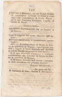 1807 REGNO DI NAPOLI GIUSEPPE NAPOLEONE DECRETO CIVITA DI PENNE PENNE - Decrees & Laws