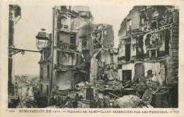 92* ST CLOUD Maison Incendiees En 1871 - Saint Cloud