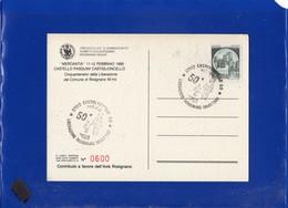 ##(DAN204)-1995-Castiglioncello,50°Liberazione Rosignano,annullo Speciale Su Cartolina Commemorativa-tematica Resistenza - 6. 1946-.. Repubblica