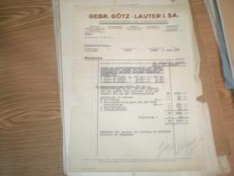 Gebr Gotz Lauter SA Mashinenfabrik Und Eisengiesserei 1937 - Non Classés