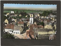 CPSM Brumath Edtion Lapie (fomat 9x14) N°9 Eglise Catholique Et Place De La Liberté - Brumath