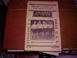 FOOTBALL - MATCH TOULOUSE F.C. CONTRE LILLE O.C.S. -  STADE CHAPOU - PROGRAMME 26 JANVIER 1947 - Soccer