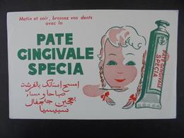 BUVARD - DENTIFRICE : PATE GINGIVALE  SPECIA : PEU COURANT - Löschblätter, Heftumschläge