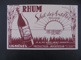 BUVARD - RHUM, SOLEIL DES ANTILLES - 94, CHARENTON - Löschblätter, Heftumschläge