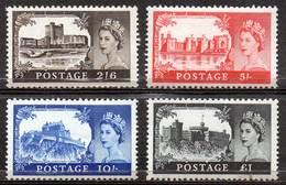 GREAT BRITAIN 1963 Castles High Value Definitives - Nuovi