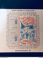 Saint Pierre Et Miquelon - Bloc 3 Révolution Française - BF3 - St.Pierre & Miquelon