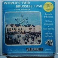 VIEW MASTER  :   WORLD'S FAIR BRUSSELS 1958 :  POCHETTE DE 3 DISQUES - Visionneuses Stéréoscopiques