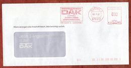 Brief, Francotyp-Postalia B23-8973, DAK, 80 Pfg, Worms 1987 (93262) - BRD
