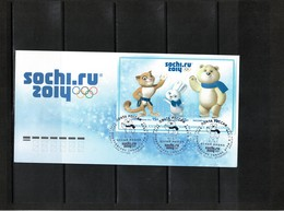 Russia 2014 Olympic Games Sochi FDC - Invierno 2014: Sotchi