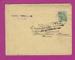 LETTRE BELGIQUE Avec Flamme SOUSCRIVEZ A L' EMPRUNT NATIONAL - Marcophilie (Lettres)