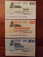 MINIASSEGNO BANCO LARIANO - [10] Assegni E Miniassegni
