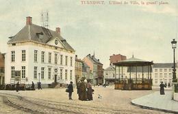 Oude Postkaart. Turnhout. L'Hotel De Ville. La Grand Place 1914 - Turnhout