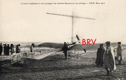 Photo: Nice, Aviaition, Laurens Expliquant Les Manoevres De Pilotage, 1912, Photo D'une Ancienne Carte Postale,  2 Scans - Aviation