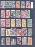 C054  Lotje Perfins Spoorwegzegels   30 Stuks - Lochung